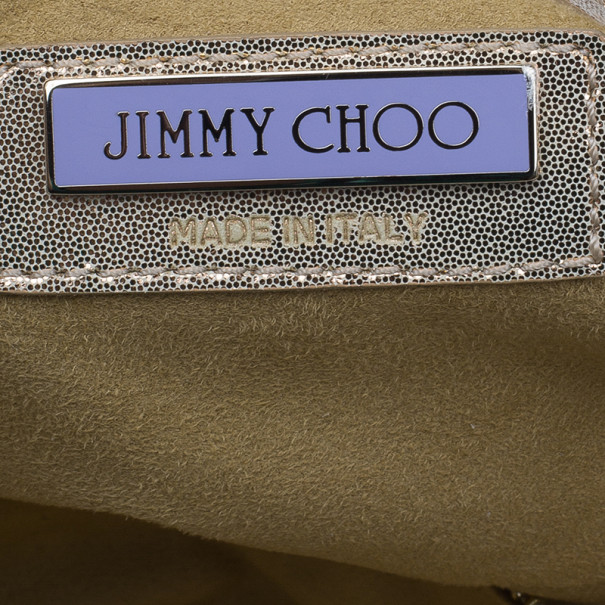 Jimmy Choo Gold Leather Laser Cut Tote