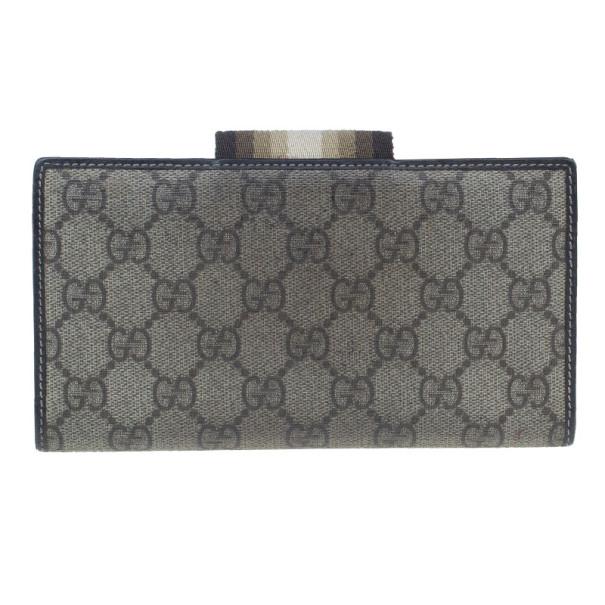 Gucci Brown Monogram Canvas Continental Wallet