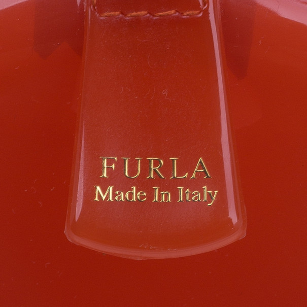 Furla Red Gloss PVC Candy Satchel