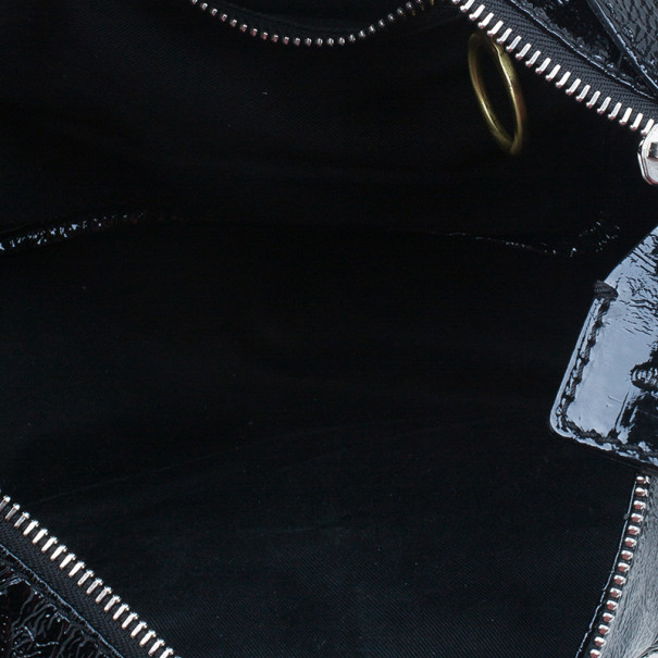 Chloe Black Patent Leather Ada Tote