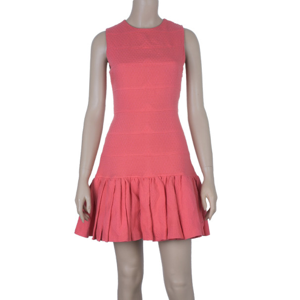 Kenzo Pink Drop Waist Panel Dress S