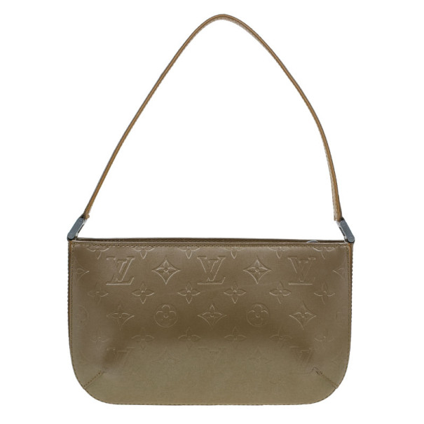 Louis Vuitton Bronze Leather Vernis Pochette