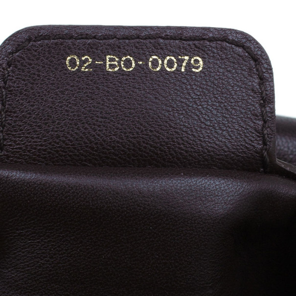 Dior Brown Leather Cannage Shoulder Bag