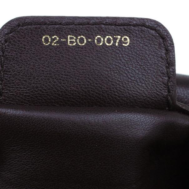 Dior Brown Leather Cannage Shoulder Bag