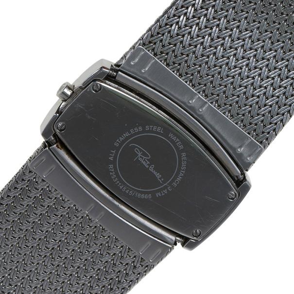 Roberto Cavalli Silver Stainless Steel Ellisse Women's Wristwatch 40MM