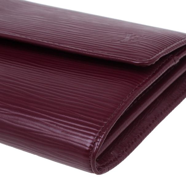 Louis Vuitton Pink Epi Leather Sarah Continental  Wallet