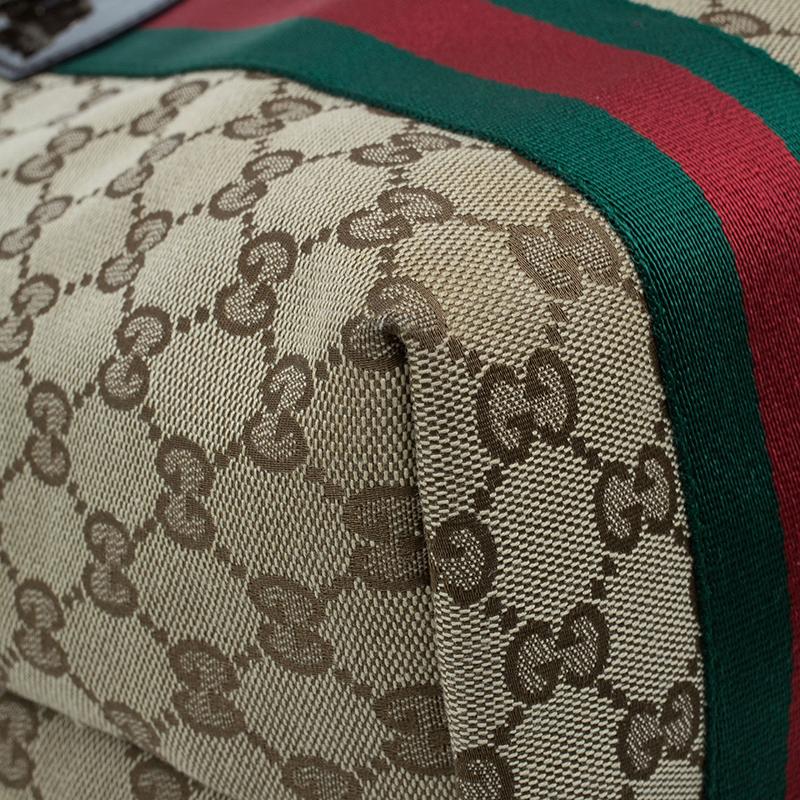 Gucci Beige Monogram Canvas Large Jolie Web Charms Tote