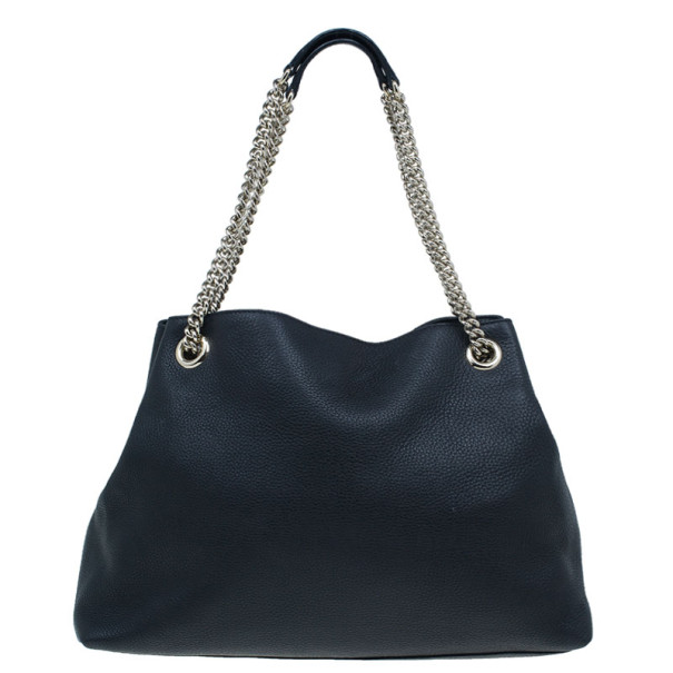 Gucci Black Leather Medium Soho Shoulder Bag