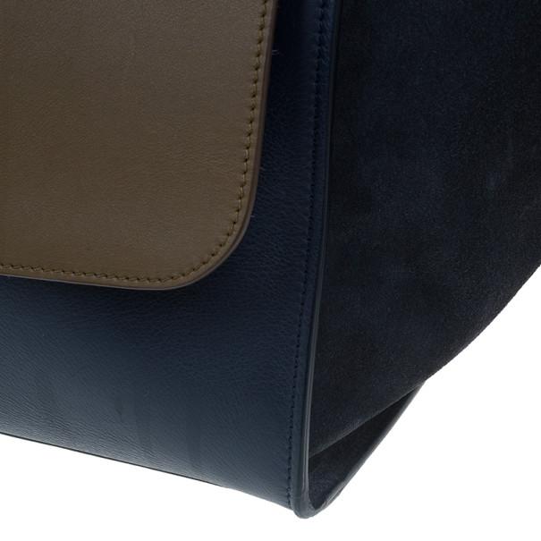 Celine Blue Calfskin Large Trapeze Bag