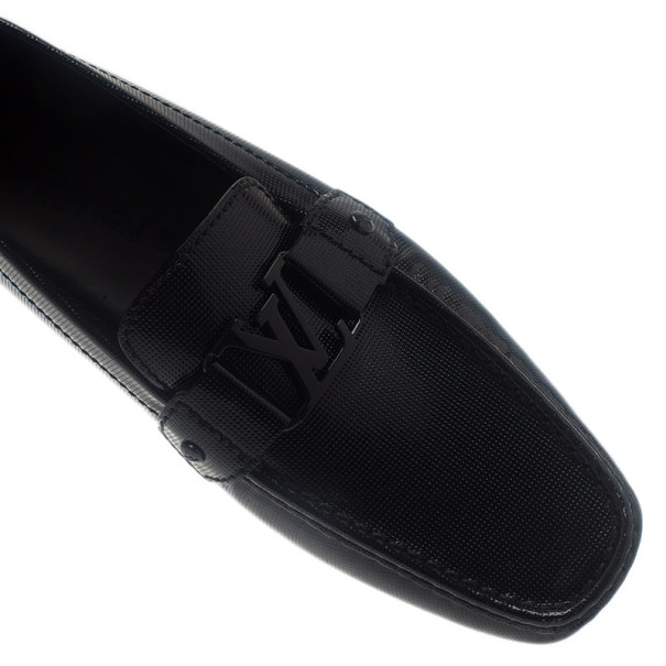 Louis Vuitton Black Patent Monte Carlo Loafers Size 42.5