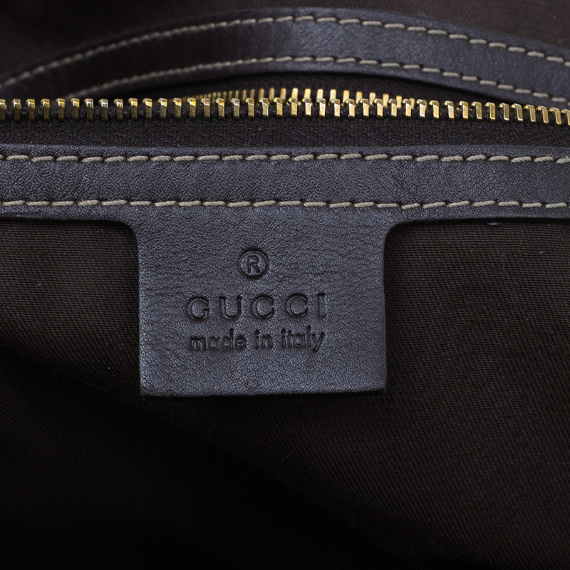 Gucci Beige Monogram Canvas Large Indy Top Handle Bag