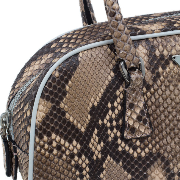 Prada Brown Python Mini Satchel