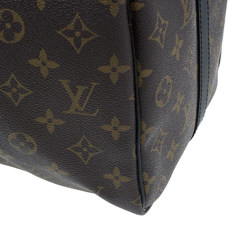 Louis Vuitton Monogram Canvas Macassar Keepall Bandouliere 45