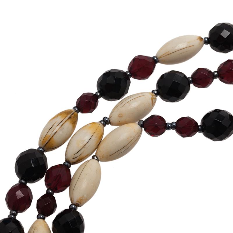 Giorgio Armani 3 Strand Beaded Choker Necklace