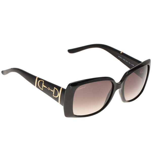 Gucci Black GG 3537 Horsebit Square Sunglasses