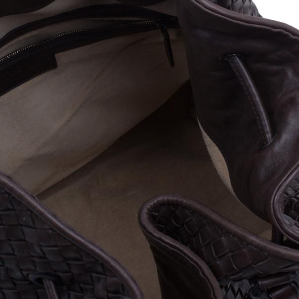 Bottega Veneta Brown Leather Large Intrecciato Hobo