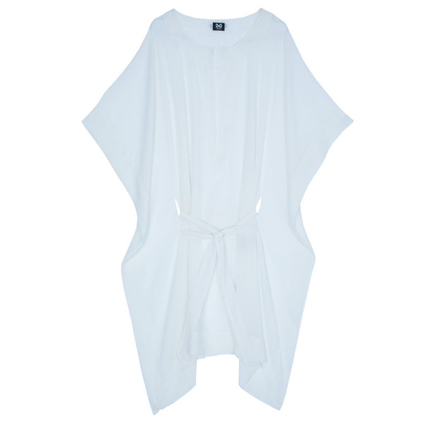 D and G White Short Kaftan Top M