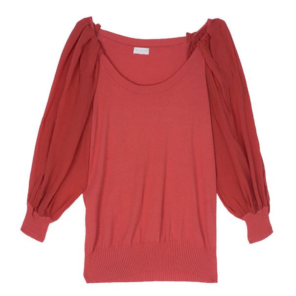 Valentino Coral Knit Top S