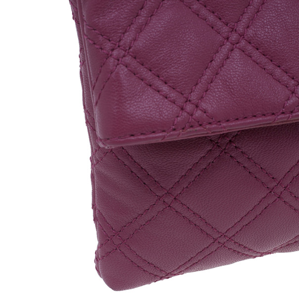 Marc Jacobs Pink Quilted Leather Large Convertible Eugenie Clutch