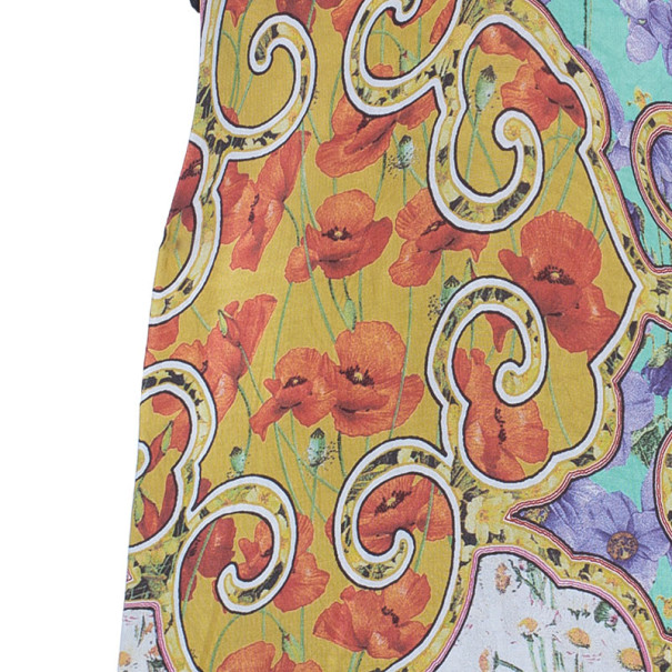 Roberto Cavalli Abstract Print Silk Blend Dress S