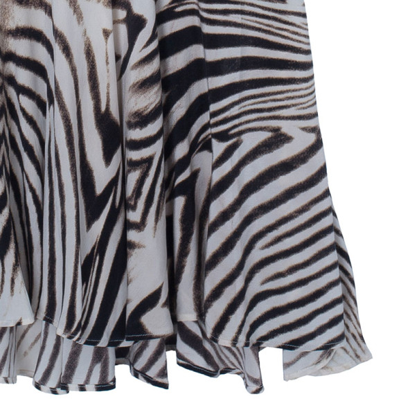 Roberto Cavalli Halterneck Animal Print Dress M