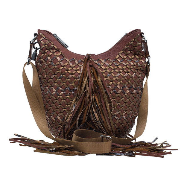 Marc Jacobs Brown Woven Leather Boho Hobo