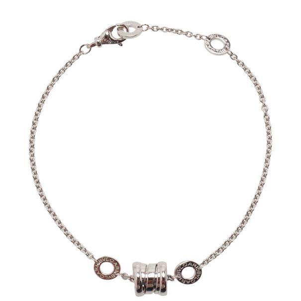 Bvlgari B.Zero1 18kt White Gold Soft Bracelet 19CM