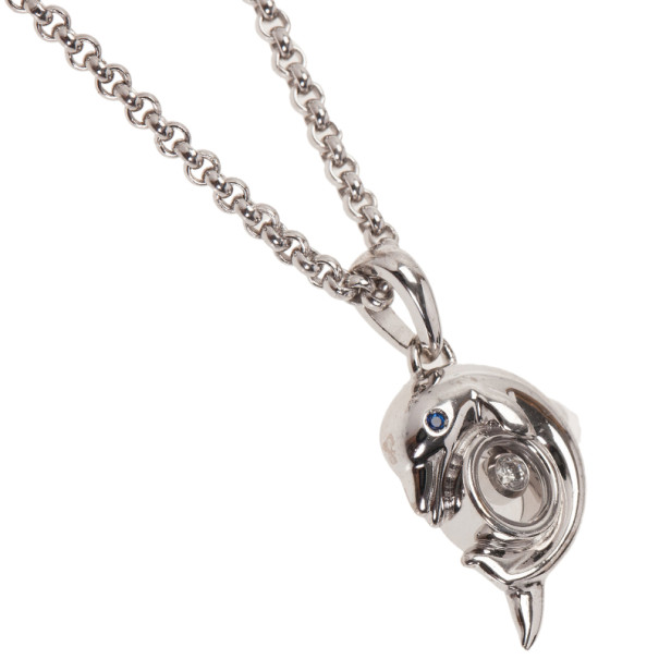 Chopard Happy Animals Dolphin White Gold Pendant Necklace