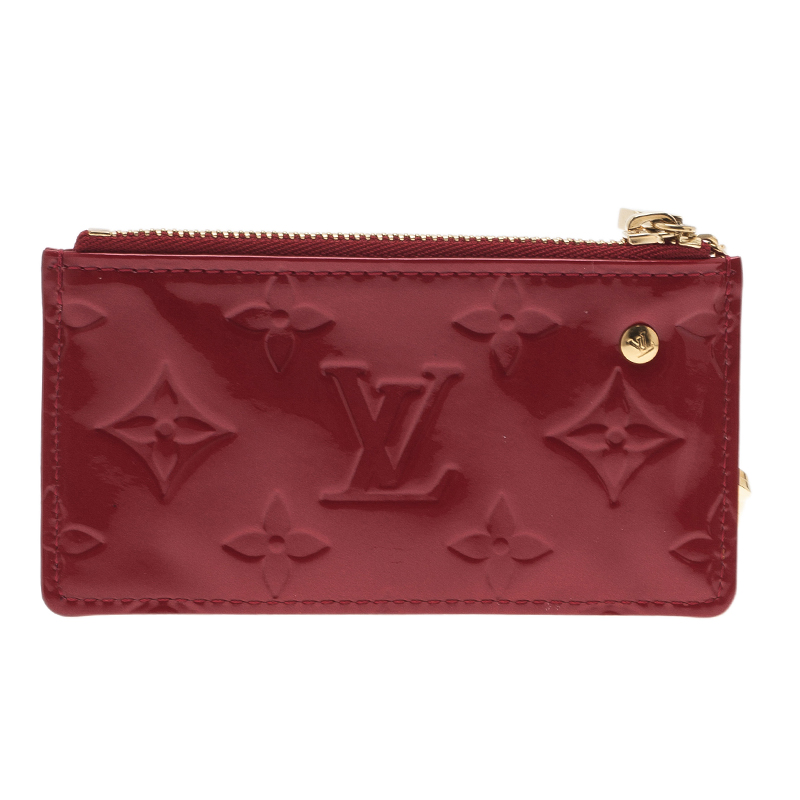 Louis Vuitton Red Monogram Vernis Coin Pouch