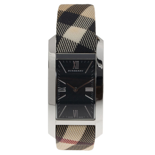 Burberry Black Stainless Steel Heritage Women's Wristwatch 25MM