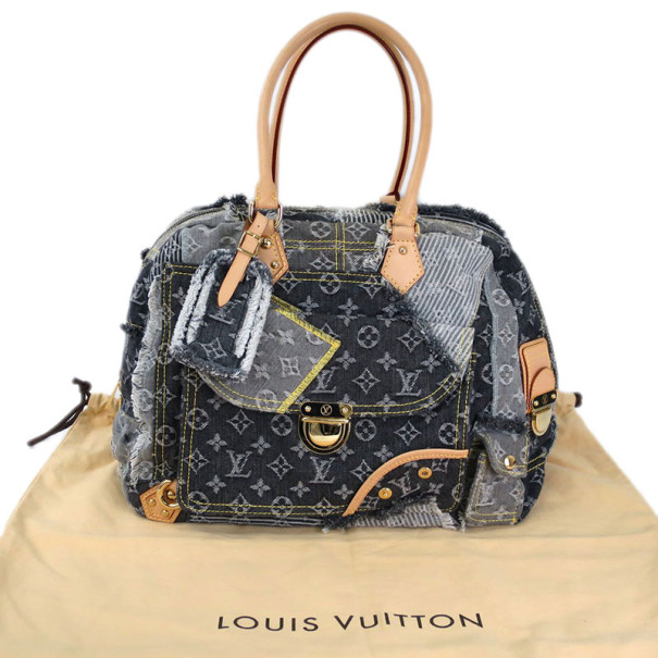Louis Vuitton Monogram Denim Bowly Boston Bag