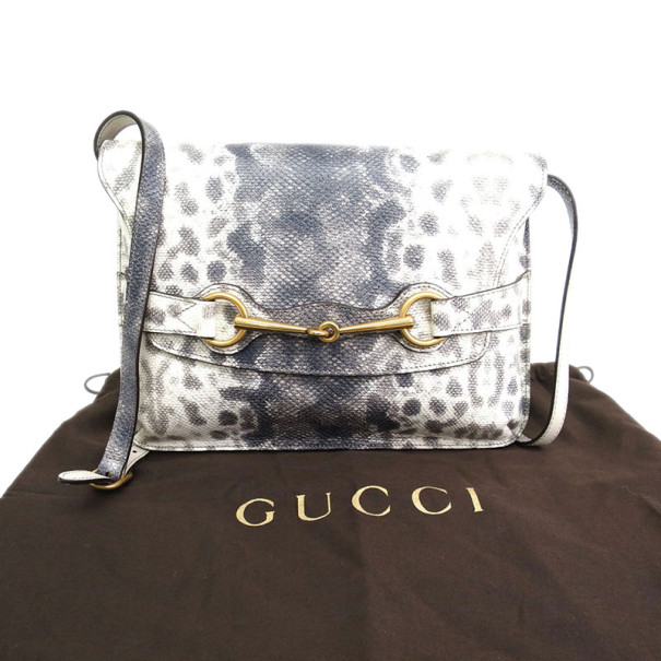 Gucci Karung Printed Leather Bright Bit Crossbody