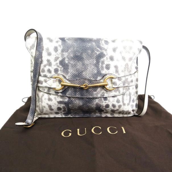 Gucci Karung Printed Leather Bright Bit Crossbody