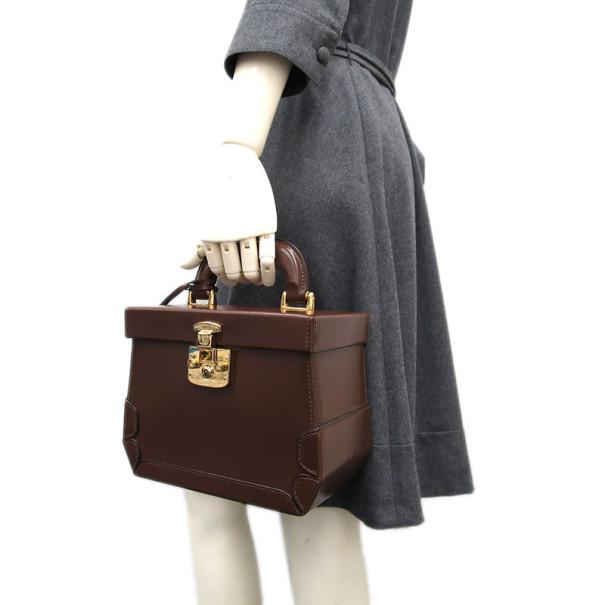 Gucci Brown Leather Vintage Vanity