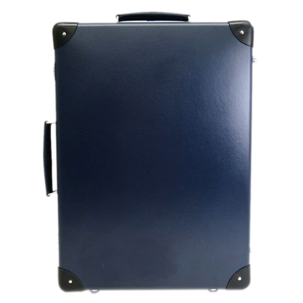 Globe-Trotter Navy Blue Vulcanized Fiber Suitcase