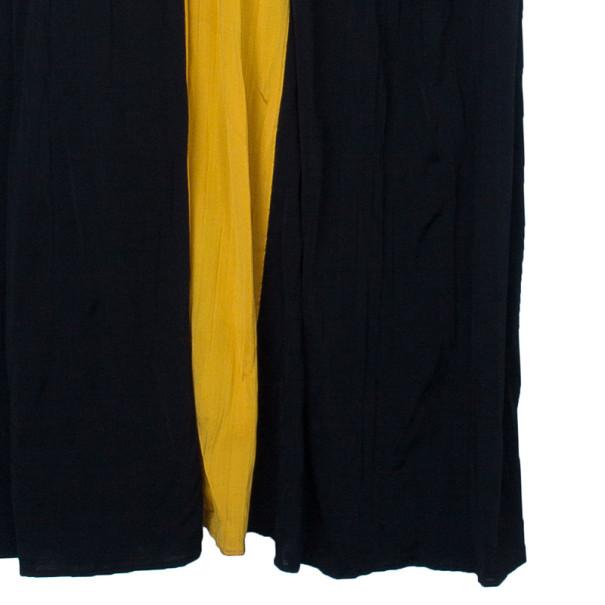 Versace Color-block Halterneck Evening Dress M