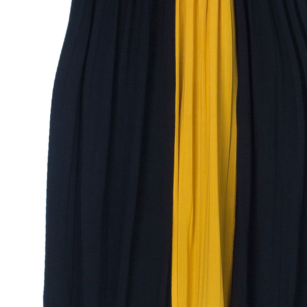 Versace Color-block Halterneck Evening Dress M