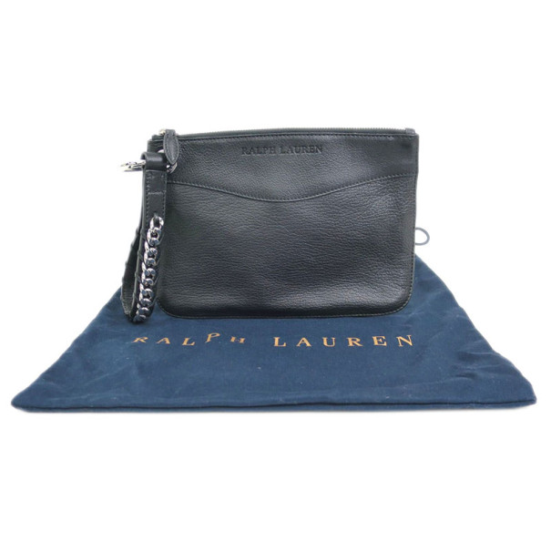 Ralph Lauren Black Leather Wristlet