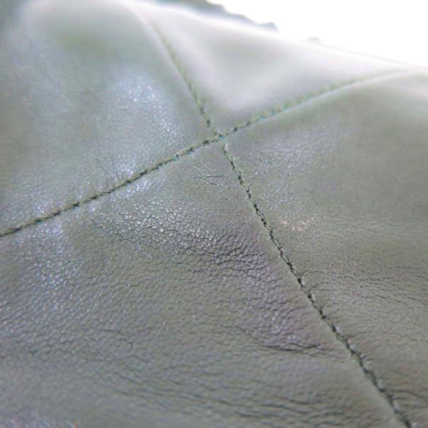 Chanel Khaki Lambskin Tassle Crossbody