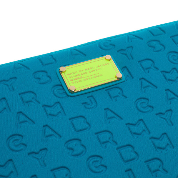 Marc by Marc Jacobs Turquoise Dreamy Logo Laptop Case
