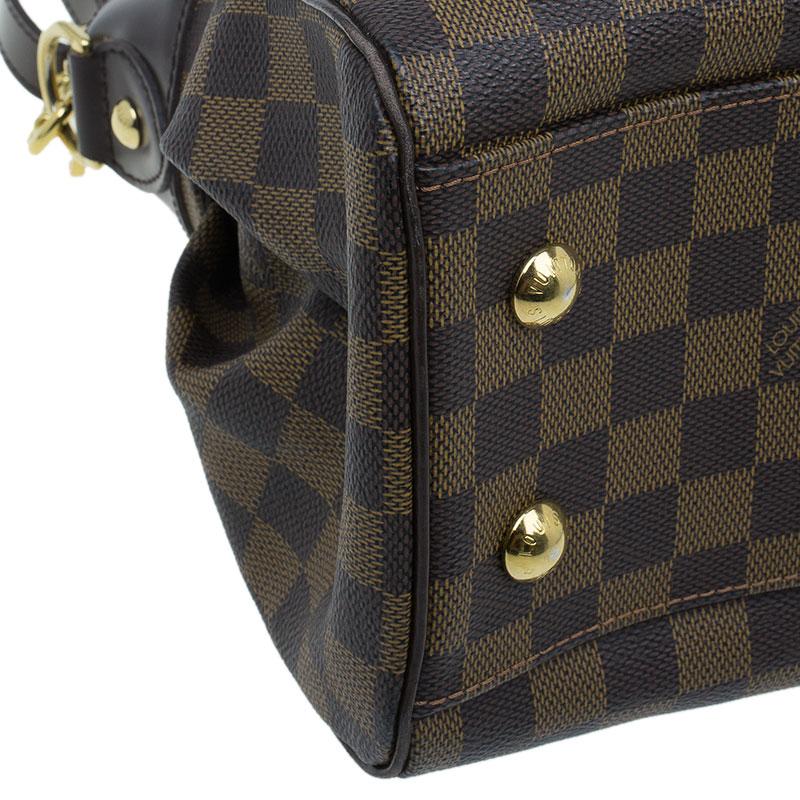 Louis Vuitton Damier Ebene Canvas Trevi Satchel PM Bag