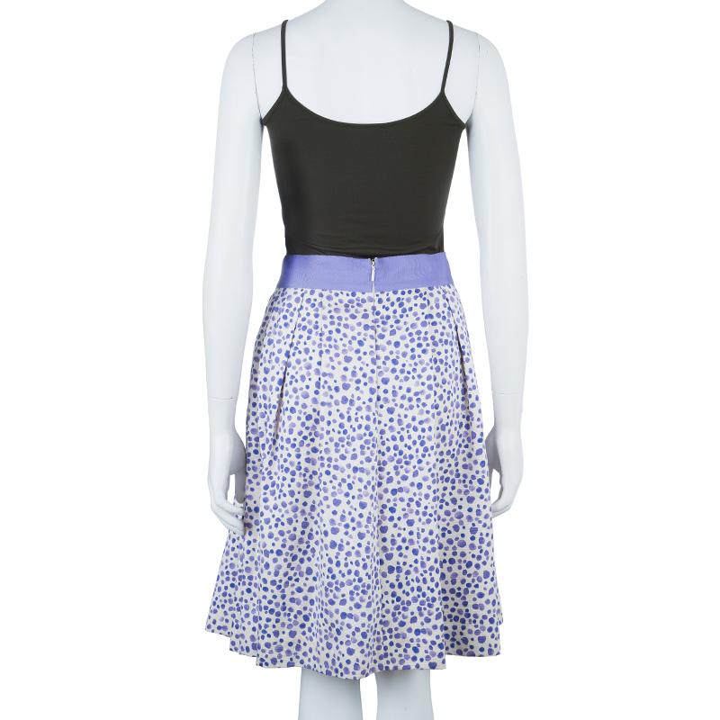 CH Carolina Herrera Dotted Tulip Skirt M