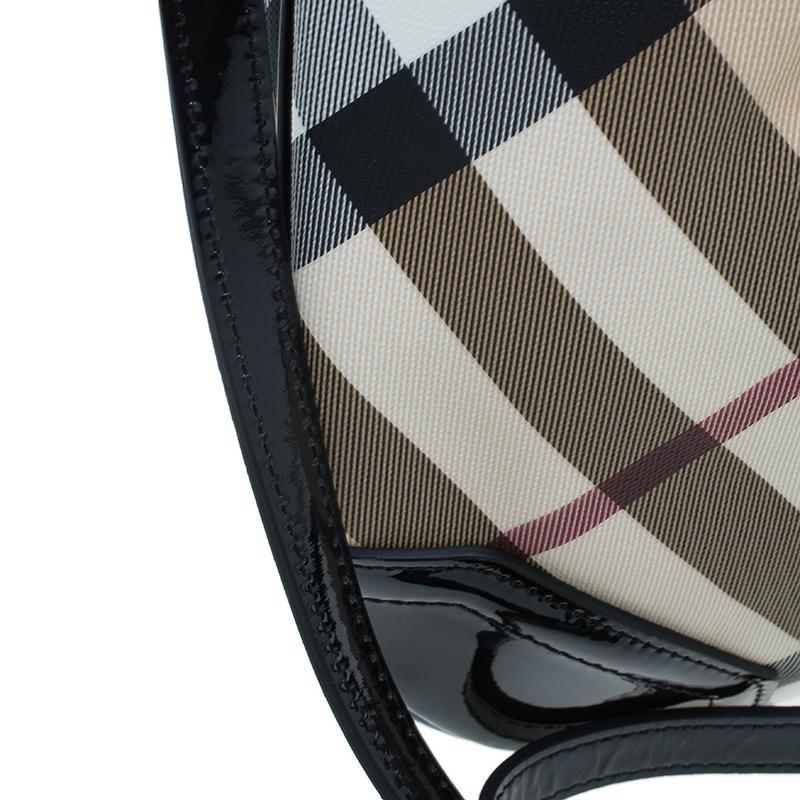 Burberry Black Nova Check Crossbody Bag