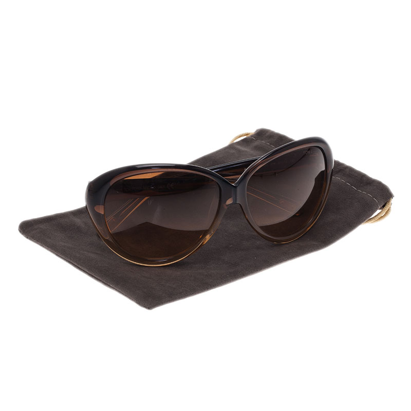 Tom Ford Brown Anabelle Cat Eye Sunglasses