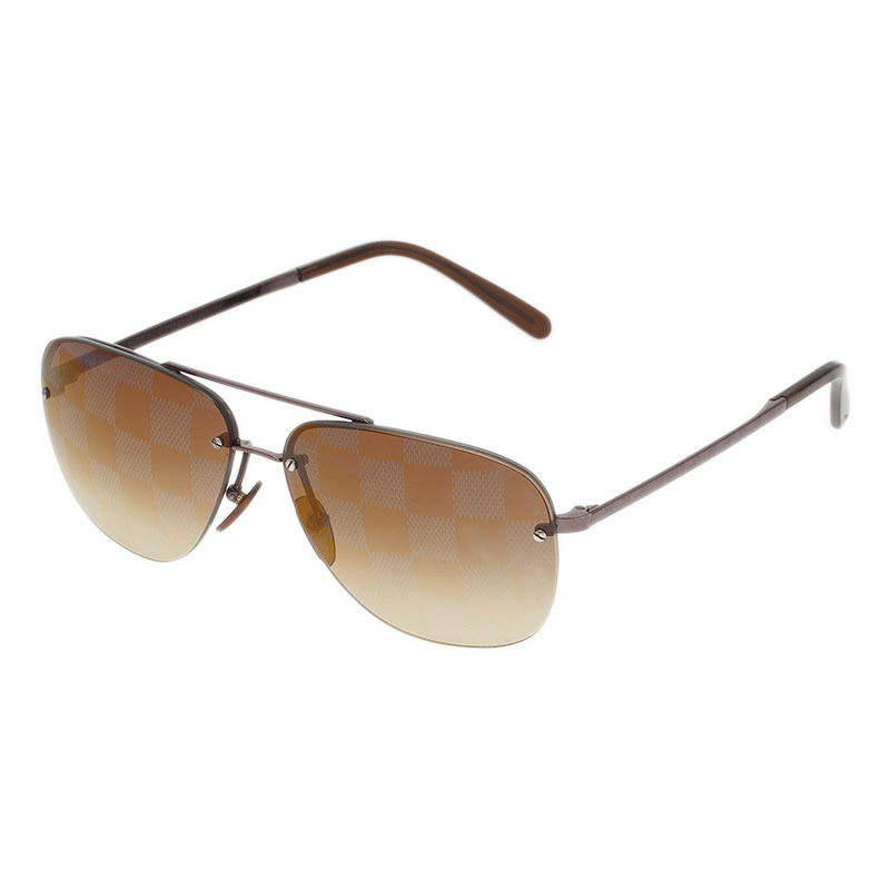 Louis Vuitton Brown Socoa Damier Aviators Sunglasses