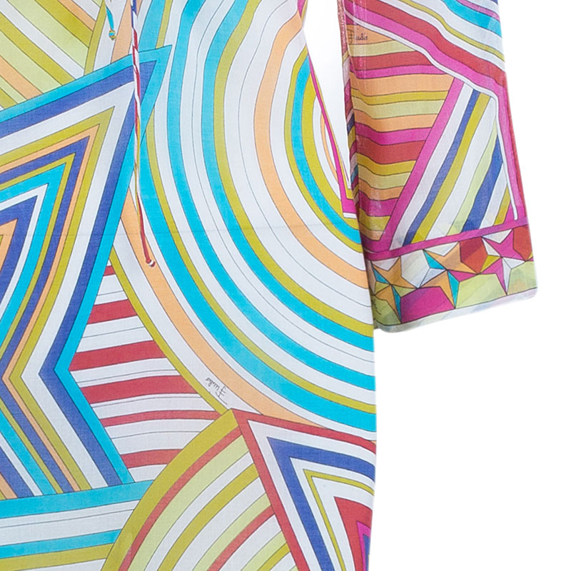 Emilio Pucci Multicolor Beach Dress S