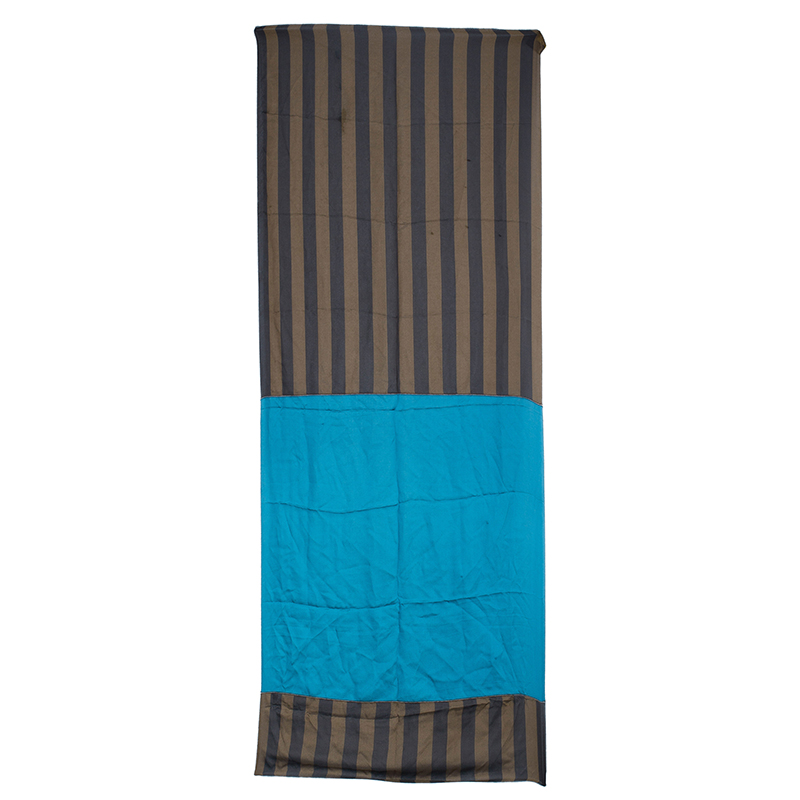Fendi Brown and Blue Pequin Print Scarf