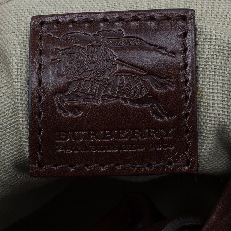Burberry Brown Mega Check Canvas Victoria Tote Bag