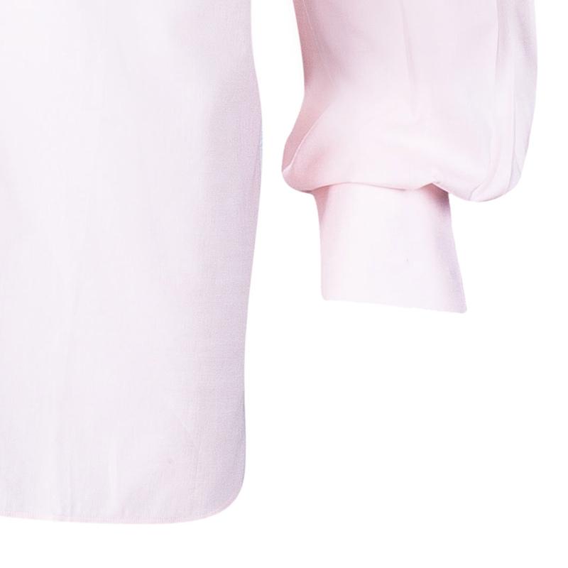 Brioni Men's Light Pink Cotton Shirt L