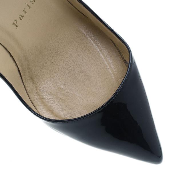 Christian Louboutin Black Patent Pigalle Pumps Size 36.5